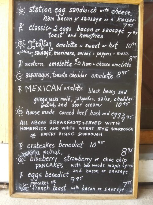 Breakfast Menu - All Day